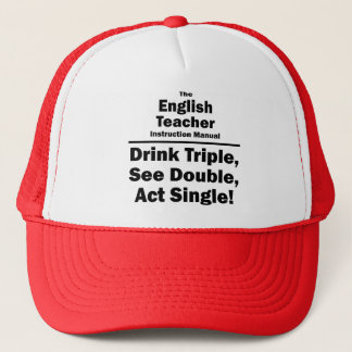 english teacher trucker hat
