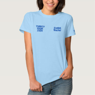 English Teacher - Twinty Foor 7ven Embroidered Shirt