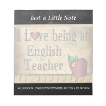 English Teacher | Vintage Style Notepad