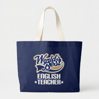 English Teacher Worlds Best Tote Bag School Gift