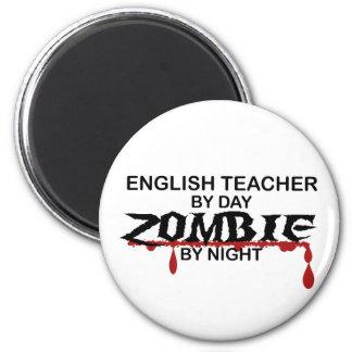 English Teacher Zombie 2 Inch Round Magnet