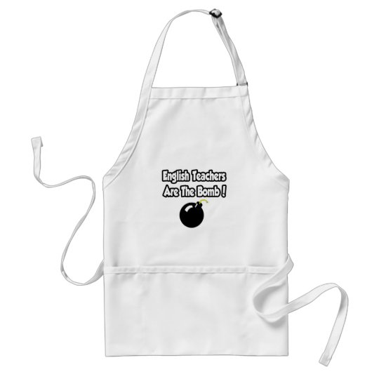 English Teachers Are The Bomb! Adult Apron