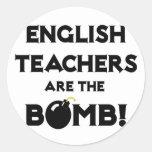 English Teachers Are The Bomb! Classic Round Sticker