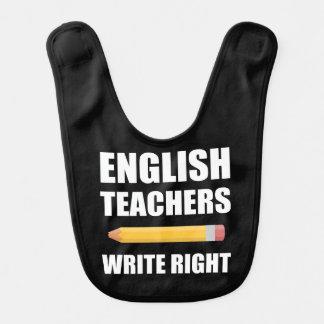 English Teachers Write Right Baby Bib