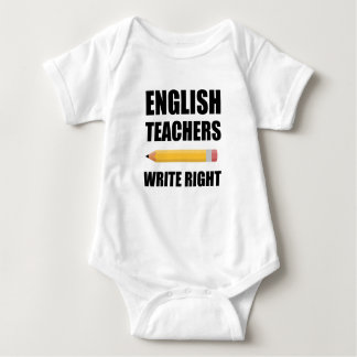 English Teachers Write Right Baby Bodysuit