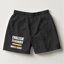 English Teachers Write Right Boxers