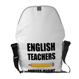 English Teachers Write Right Messenger Bag