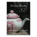English Teapot - 80th Birthday Celebration Invite