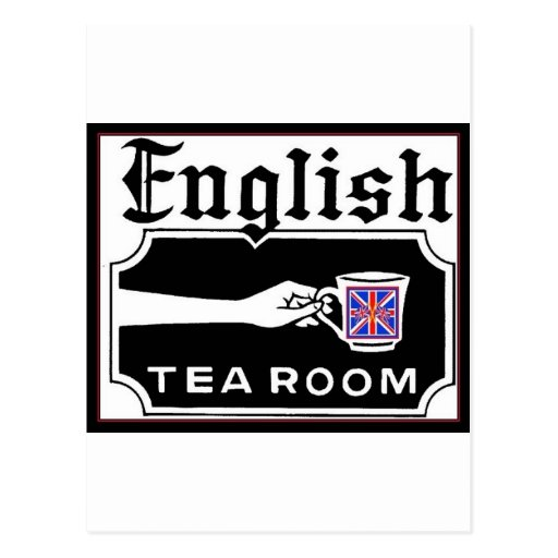 English Tearoom Postcard