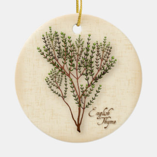 English Thyme Herb Ceramic Ornament