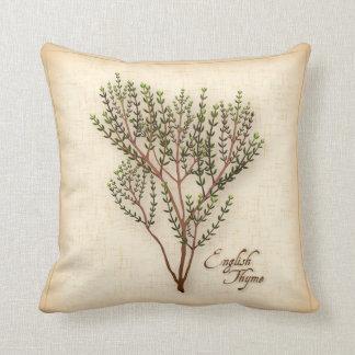 English Thyme Herb Throw Pillow