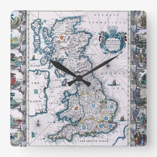 English Time Square Wall Clock