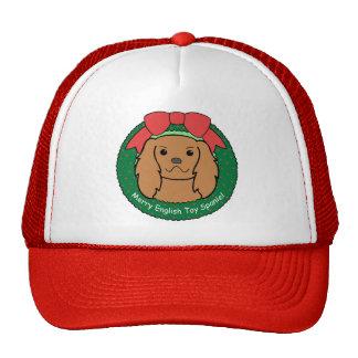 English Toy Spaniel Christmas Trucker Hat