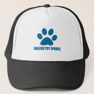 ENGLISH TOY SPANIEL DOG DESIGNS TRUCKER HAT
