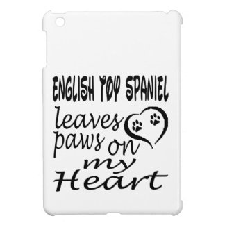 English Toy Spaniel Dog Leaves Paw On My Heart Cover For The iPad Mini