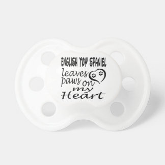 English Toy Spaniel Dog Leaves Paw On My Heart Baby Pacifier