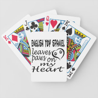 English Toy Spaniel Dog Leaves Paw On My Heart Playing Cards