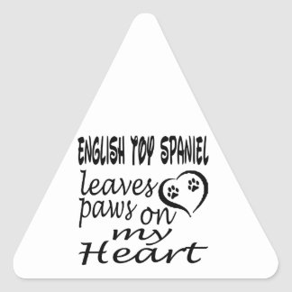 English Toy Spaniel Dog Leaves Paw On My Heart Stickers