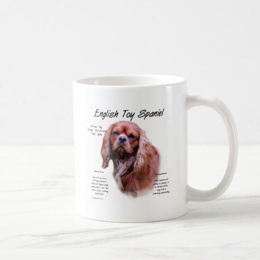 English Toy Spaniel (ruby) History Design Coffee Mugs