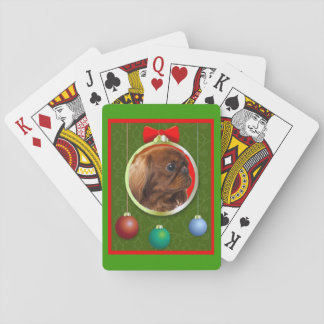 English Toy Spaniel Ruby Playing Cards