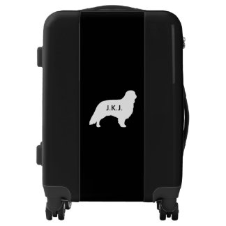 English Toy Spaniel Silhouette Personalized Luggage