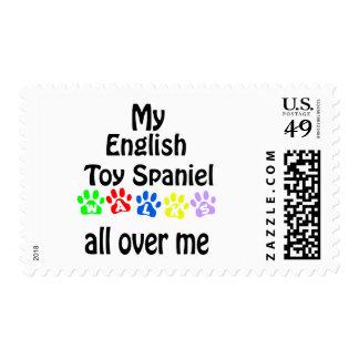 English Toy Spaniel Walks Design Postage