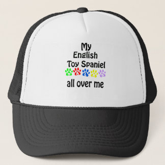 English Toy Spaniel Walks Design Trucker Hat