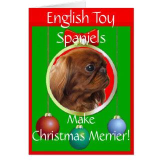 English Toy Spaniels Make Christmas Merrier Card