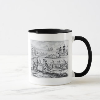 English Trading with Indians of the West Mug