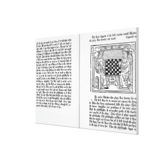 English translation of 'De Ludo Saccorum' Canvas Print