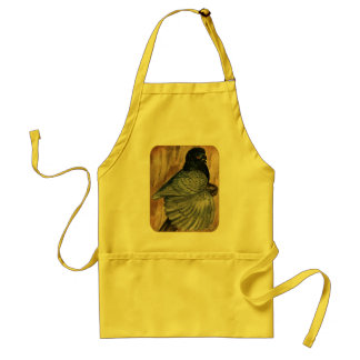 English Trumpeter:  1980 Andalusian Adult Apron