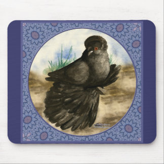 English Trumpeter Blue Frame Mouse Pad