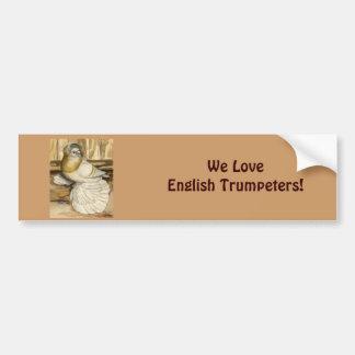 English Trumpeter Cream Bar Car Bumper Sticker