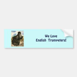 English Trumpeter Dun Pigeon Car Bumper Sticker