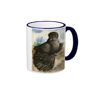 English Trumpeter Dun Pigeon Ringer Mug