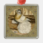 English Trumpeter Gold Frame Christmas Tree Ornament