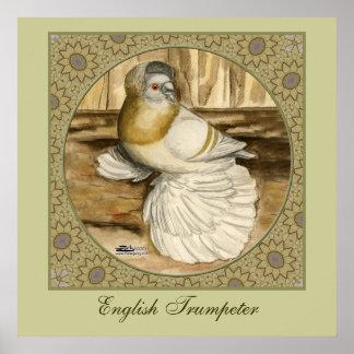 English Trumpeter Gold Frame Print