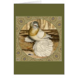 English Trumpeter Gold Frame Stationery Note Card