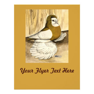 English Trumpeter Yellow Magpie Personalized Flyer