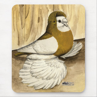 English Trumpeter Yellow Magpie Mouse Pad