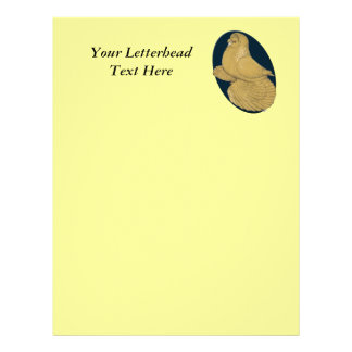 English Trumpeter:  Yellow Oval Letterhead