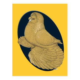 English Trumpeter:  Yellow Oval Postcard