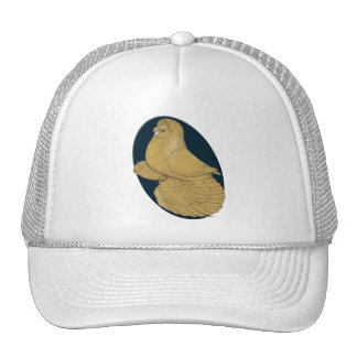 English Trumpeter:  Yellow Oval Trucker Hat