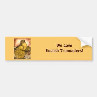 English Trumpeter Yellow Self Car Bumper Sticker