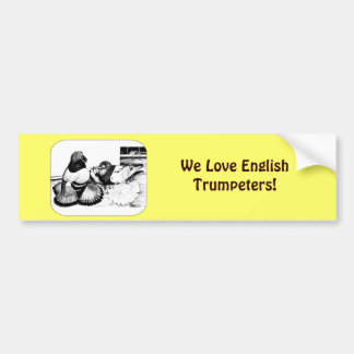 English Trumpeters Car Bumper Sticker