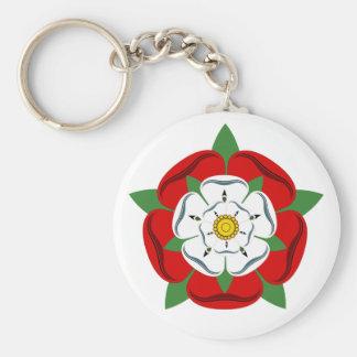 English Tudor Rose Keychain