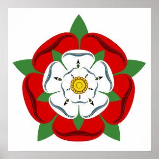 English Tudor Rose Poster