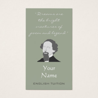 English Tutor Charles Dickens Business Cards
