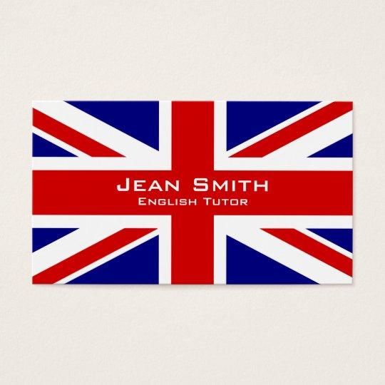 English tutor english teacher with uk flag business card zazzle english tutor english teacher with uk flag business card reheart Gallery