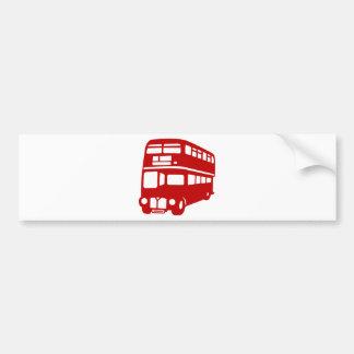 English two-floor bus car bumper sticker